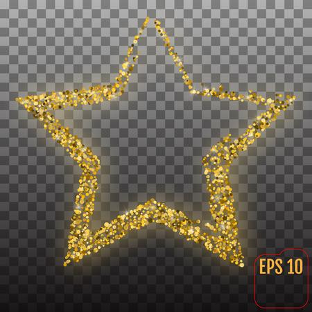Shiny golden star backdrop pattern.