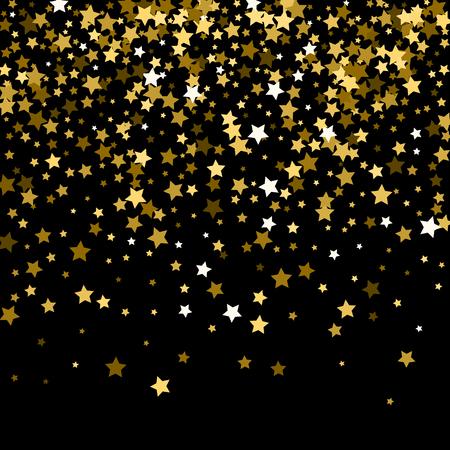 couverture noire avec des étoiles d & # 39 ; or motif de verre Vecteurs