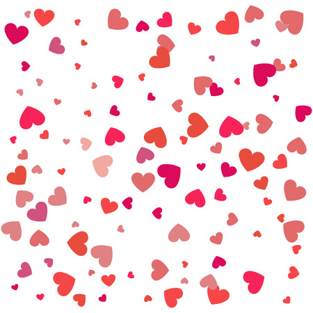 Background with different colored confetti hearts for valentine time