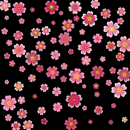 Sakura blossoms background with 3d effect. Stock Vector - 93362218