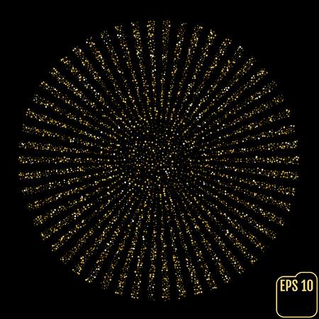 ベクトルアイテストチャート。視力の星。ゴールドスター紙吹雪コンセプト