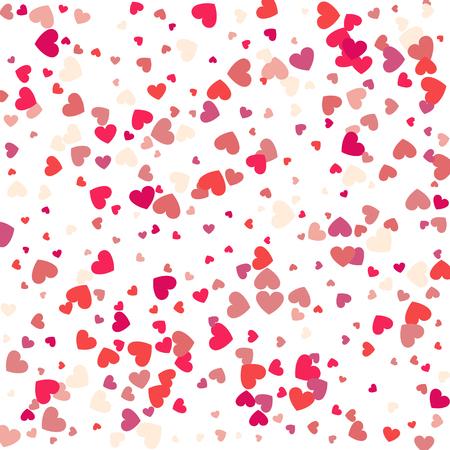 Harten vectorachtergrond, rood hartframe voor uw tekst. Sjabloon voor Valentijnsdag ontwerpen, uitnodiging, feest, verjaardag, bruiloft hart confetti.