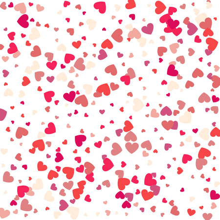 Hearts vector background, red heart frame for your text. Template for Valentine's designs, invitation, party, birthday, wedding heart confetti. Ilustração