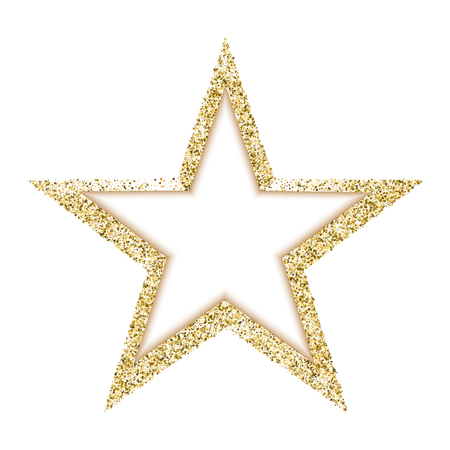 Vector Luxury Gold Star A Beautiful Golden Star Consisting