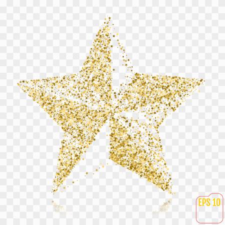Golden Star. Gold stars confetti concept. Gold holiday background. Ilustração