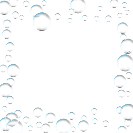 Frame for processing of transparent bubbles. Background of air bubbles