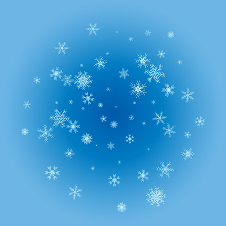 Vector Illustration of a Winter Background with Snowflakes Standard-Bild - 107130042