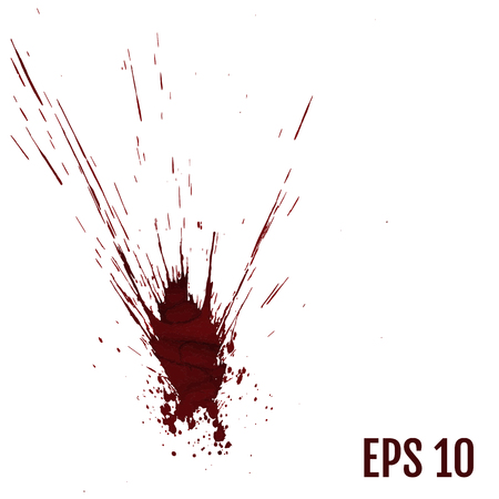 Realistic blood splatters, Splash liquid, stain ink, spot and blot illustration. All elements are not grouped. Vector illustration. Illustration