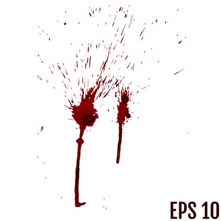gouttes de sang - criminalité et violence - spray sanglant