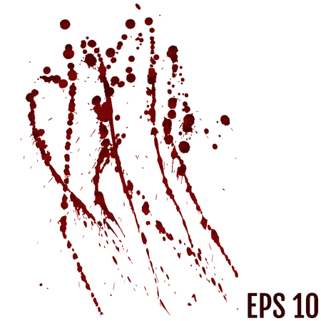 blood drops - criminality and violence - bloody spray