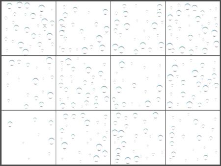 Transparent bubble confetti celebrations. Simple festive modern design. Holiday vector. Set 12 in 1