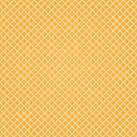 Fondo transparente de la oblea. Apetitosa textura de oblea repetida. Ilustración de vector. Ilustración de vector