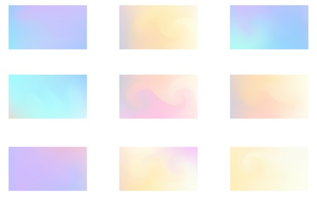Trendy colorful abstract background. Gradient mesh. Modern Luxury concept. Set 9 in 1 向量圖像