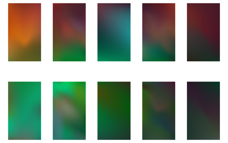 Colorful backgrounds in trendy green and blue colors. Modern screen vector design for mobile app. Soft natural color abstract gradients.
