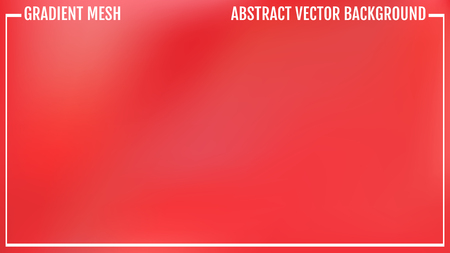 Gradient red and pink abstract vector blur background. Natural bright colors. Illustration
