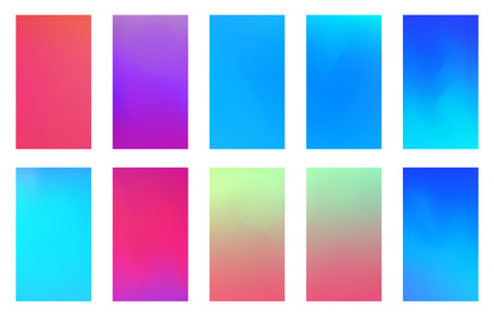 Soft color background. Modern screen vector design for mobile app. Soft color abstract gradients. Banque d'images - 117217681