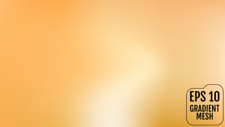 Abstract orange and gold blurred gradient background with light. Holiday backdrop. Vector illustration. Celebration concept for your graphic design, banner, poster, user interface or app.