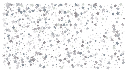 Silver stars. Confetti celebration, Falling silver abstract decoration for party, birthday celebrate, anniversary or event, festive. Festival decor. Vector illustration 일러스트