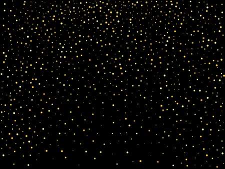 Golden glitter sparkle bubbles champagne particles stars on black background,happy new year holiday concept