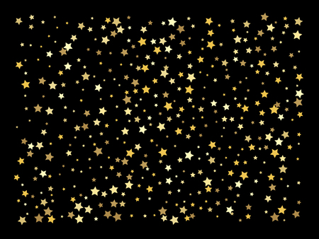 Vector background with gold stars. Golden stars confetti Иллюстрация