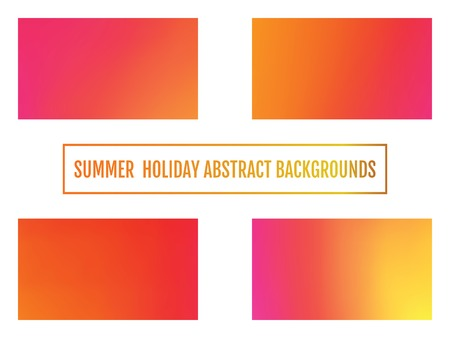 Summer holiday banner, abstract background Set of Festive glowing a bright background. Standard-Bild - 122810988