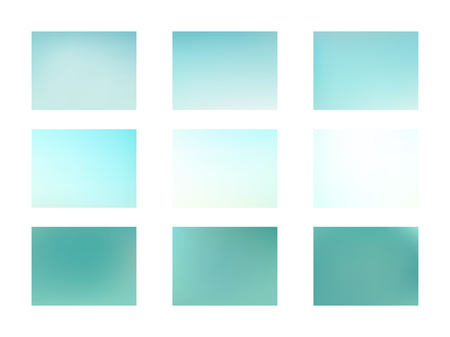 Green and blue blurred gradient mesh background Set of Modern Colorful Mesh Background for Banner or Print. Archivio Fotografico - 123248277