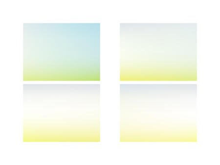 Set of Modern nature backdrop. Abstract green blurred gradient mesh background