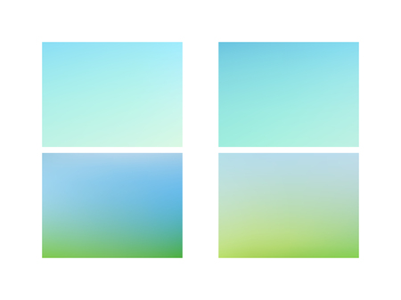 Green and blue blurred gradient mesh background Set of Modern Colorful Mesh Background for Banner or Print. Archivio Fotografico - 123248412