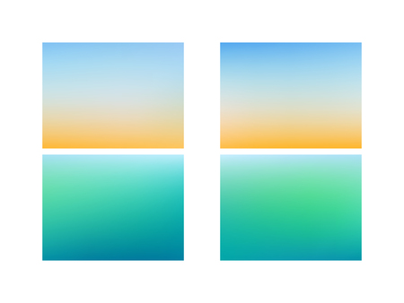 Set of Empty backdrop. Abstract blue blurred gradient mesh background