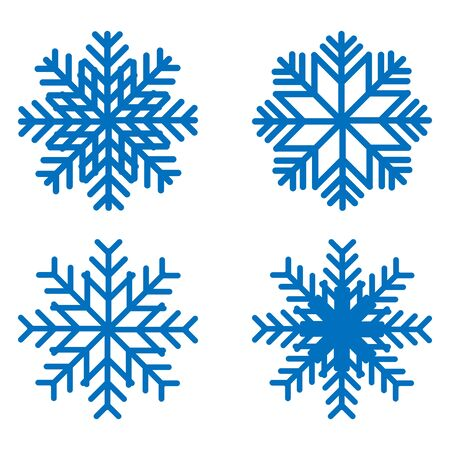 Snowflake icons kit. Set of vector snowflakes. Flat icons. Vektoros illusztráció