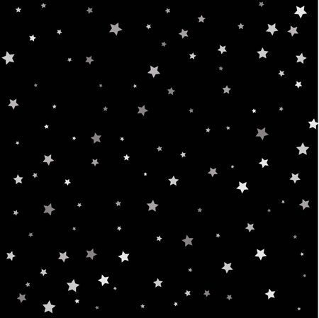 Premium sparkles stardust background pattern. Silver flying stars confetti magic cosmic christmas vector.