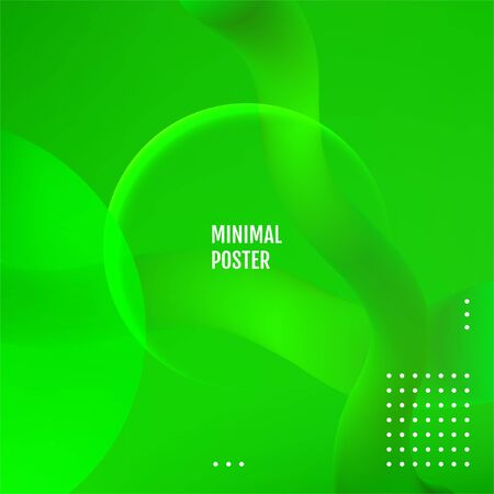 Green dynamic shapes composition. Green covers design.