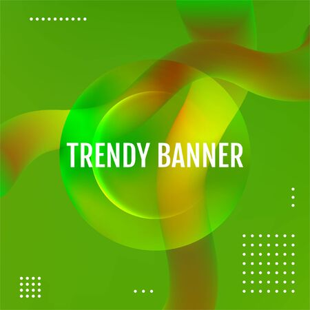 Abstract Green modern graphic element. Green geometric background.