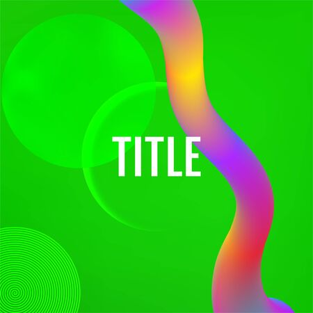 Green Template for the design of a website landing page or background. Green geometric background.
