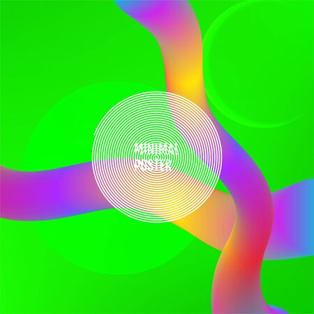 Green Minimal covers design. Green dynamic shapes composition. Illustration