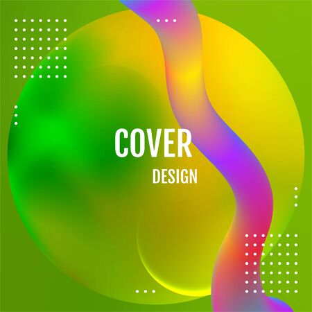 Green geometric background. Green dynamic shapes composition.