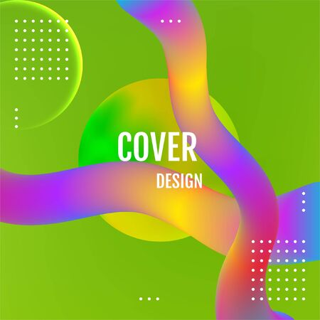 Green Abstract fluid color pattern Green covers design.