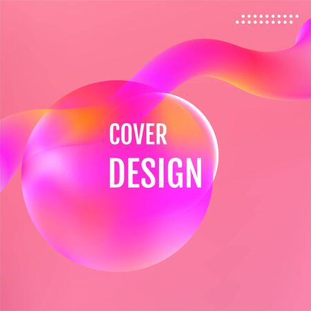 Red Minimal covers design. Red Abstract fluid color pattern