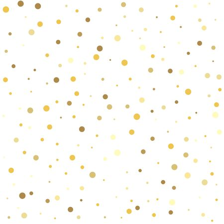 Abstract pattern of random falling gold dots. Glitter pattern for banner, greeting card.