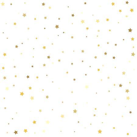Festival decor. Gold flying stars confetti magic cosmic christmas vector.