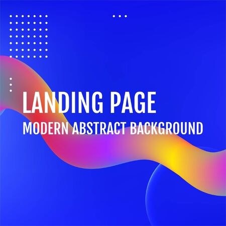 Blue Template for the design of a website landing page or background. Blue Minimal covers design.