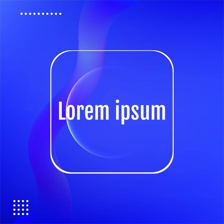 Abstract Blue modern graphic element. Blue Minimal geometric background.