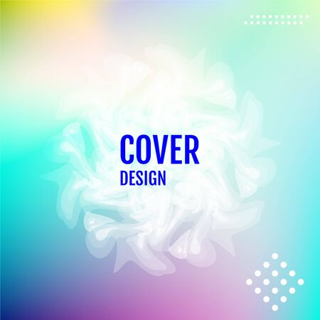 Cover and annual report design. Creative colored background. Winter minimal poster and business backdrop. Modern landing page template