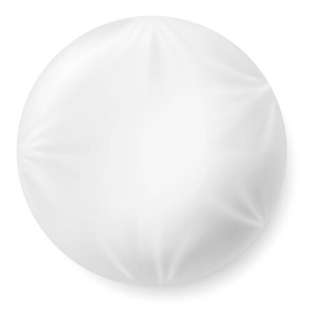 Realistic 3d soft white pillow in shape of circle