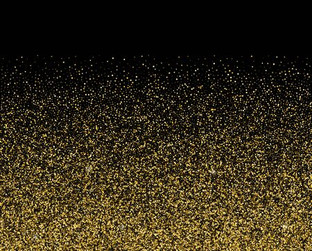 Golden light sparkles star shine. Vector sparkles on a black background. Christmas light effect. Shiny magical dust particles.