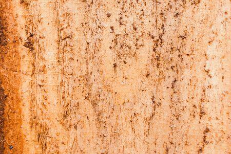 Dark brown scratched wooden board. Wood texture