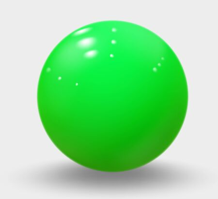 Green realistic sphere isolated on white. Green realistic ball