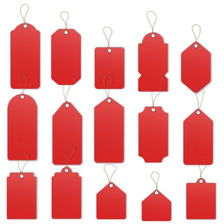 Price or Sale tags and labels vector template set  イラスト・ベクター素材