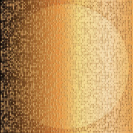 Abstract golden halftone pattern. Gold polka dot