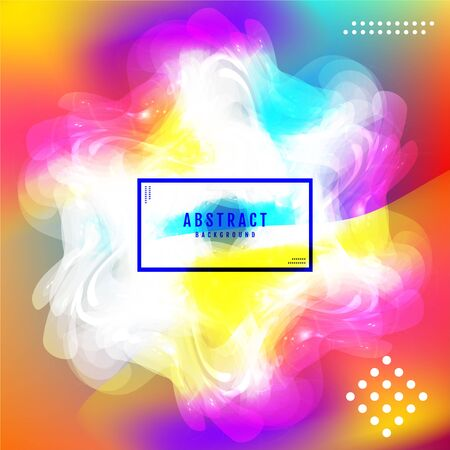 Abstract bright blurry shape,  snowflake and aurora background layout, cover, poster, wallpaper design template  イラスト・ベクター素材